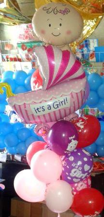 Подарок новорожденному воздушные шары