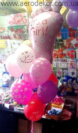 Воздушные шарики в роддом