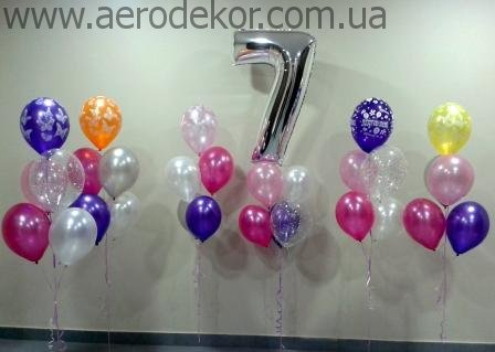 Воздушные шары в букетах